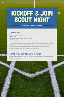 Kickoff & Join Scout Night