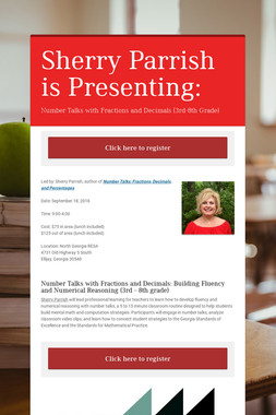 Sherry Parrish is Presenting: