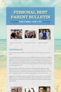 Personal Best Parent Bulletin