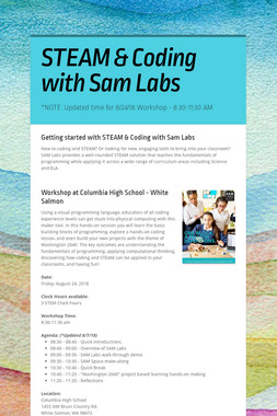 STEAM & Coding with Sam Labs