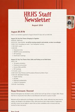 HRHS Staff Newsletter