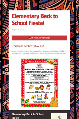 Elementary Back to School Fiesta!