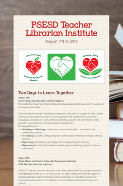 PSESD Teacher Librarian Institute