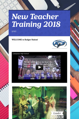 New Teacher Training 2018
