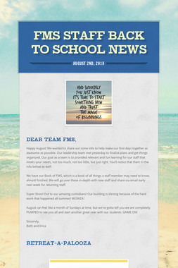 FMS Staff Back to School News