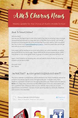 AMS Chorus News