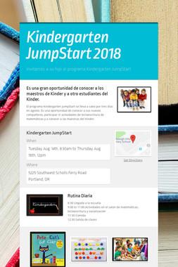 Kindergarten JumpStart 2018