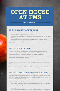 Open House at FMS