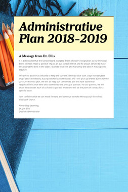 Administrative Plan 2018-2019