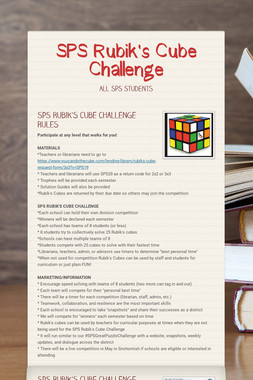 SPS Rubik's Cube Challenge