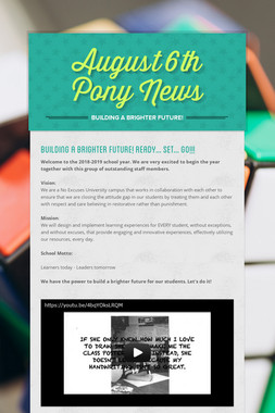 August 6th Pony News