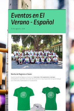 Eventos en El Verano - Español