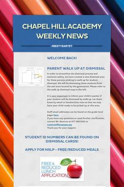 Chapel Hill Academy Weekly News