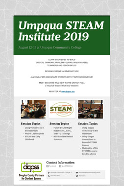 Umpqua STEAM Institute 2019
