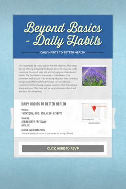 Beyond Basics - Daily Habits