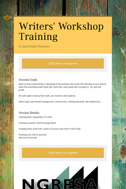 Writers' Workshop Training