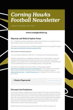 Corning Hawks Football Newsletter