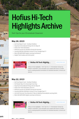 Hofius Hi-Tech Highlights Archive