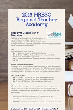 2018 MRESC Regional Teacher Academy