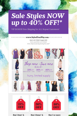 Sale Styles NOW up to 40% OFF!*