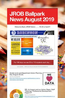 JROB Ballpark News August 2019