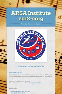 ARSA Institute 2018-2019