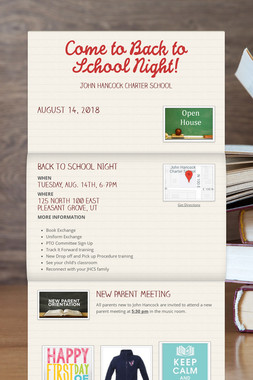Come to Back to School Night!