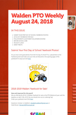 Walden PTO Weekly  August 24, 2018
