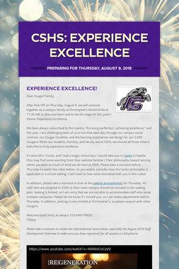 CSHS: Experience Excellence