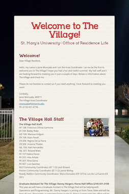 Welcome to The Village!