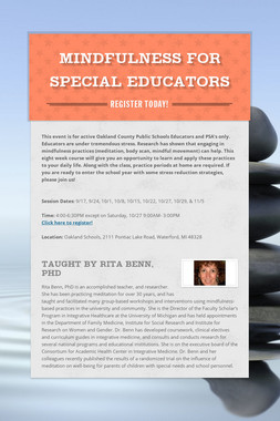 Mindfulness for Special Educators