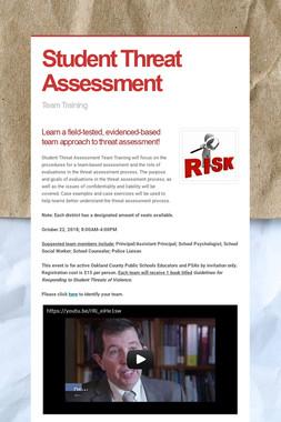 Student Threat Assessment