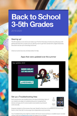 Back to School 3-5th Grades