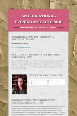 An Educational Evening @ Heartspace