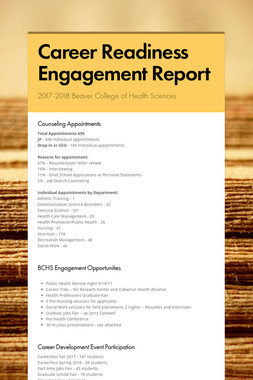 Career Readiness Engagement Report