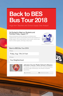 Back to BES Bus Tour 2018