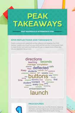 PEAK Takeaways