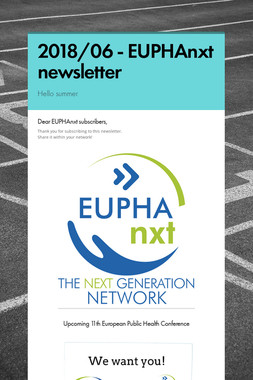 2018/06 - EUPHAnxt newsletter