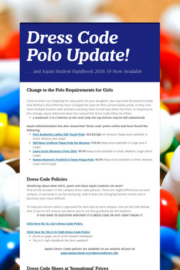 Dress Code Polo Update!