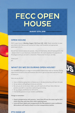 FECC Open House