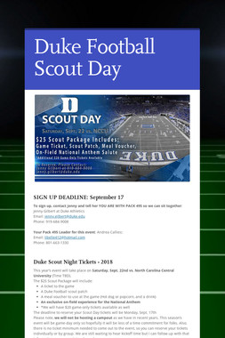 Duke Football Scout Day