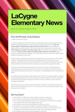 LaCygne Elementary News