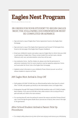 Eagles Nest Program