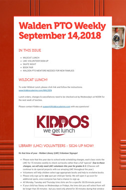 Walden PTO Weekly September 14,2018