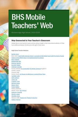 BHS Mobile Teachers' Web