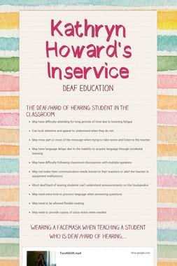 Kathryn Howard's Inservice