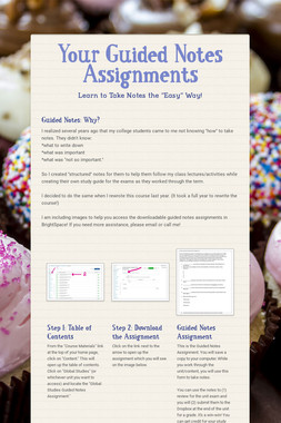 Your Guided Notes Assignments