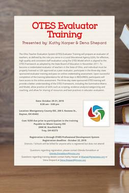 OTES Evaluator Training