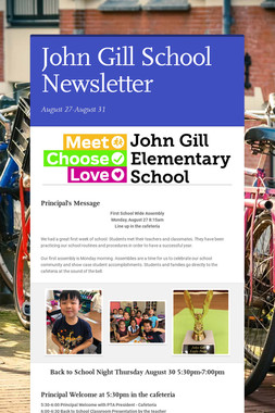John Gill School Newsletter