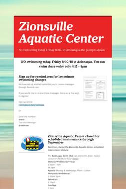 Zionsville Aquatic Center